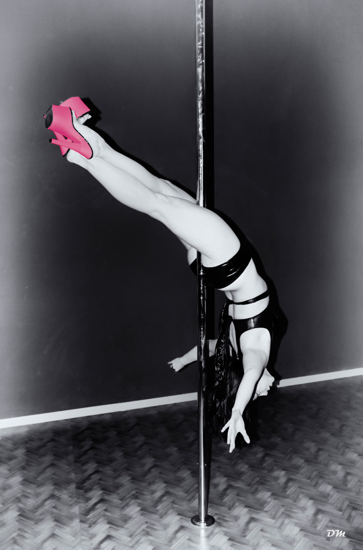 Silversnake Michelle pole dance inverted cross
